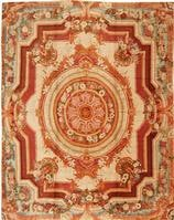 Antique Axminster English Rug 3437 Color Details - By Nazmiyal