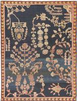 t 42875 Antique Sultanabad Sampler Rug Antique Persian Mahal Gallery Carpet 47298