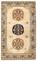 41839 Antique Khotan East Turkestan Rug color Antique Light Blue Khotan Carpet From East Turkestan 47116