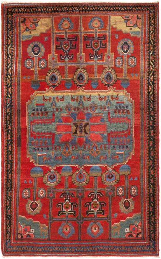 main 45764 Antique Kurdish Bidjar Rug 45764