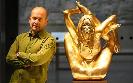 "Marc Quinn and ""Microcosms (Siren)"""