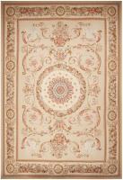 Modern Aubusson Rug 44693 Color Detail - By Nazmiyal