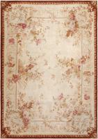 Antique Aubusson Carpet 46486 Color Detail - By Nazmiyal