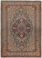 color 46541 Fine Antique Persian Mohtashem Kashan Carpet 47197