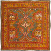 color 46697 Antique Ivory Background Oushak Carpet From Turkey 47443
