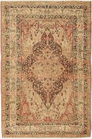 antique kerman persian rug 43264 color Fine Antique Persian Kerman Tree of Life Design Carpet 47500