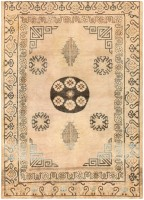 antique khotan carpet from east turkestan 46816 color Antique Light Blue Khotan Carpet From East Turkestan 47116