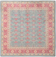 vintage east turkestan khotan rug 46728 color Antique Light Blue Khotan Carpet From East Turkestan 47116