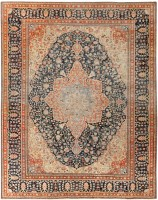 Antique Mohtashem Kashan Persian Rug