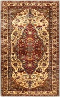 Antique Persian Mohtashem Kashan Silk Rug 47152 Color Detail - By Nazmiyal