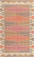 Vintage Scandinavian Carpet Marta Maas 47290 Color Detail - By Nazmiyal
