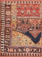 antique bidjar persian sampler rug 47377 color Antique Bidjar Persian Sampler Rug 47377