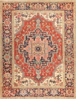 Antique Persian Serapi Rug 47251 Color Detail - By Nazmiyal
