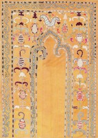 Antique Uzbek Prayer Embroidery Textile 47392 Color Detail - By Nazmiyal
