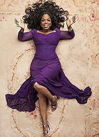 Oprah on an Aubusson Rug From Nazmiyal