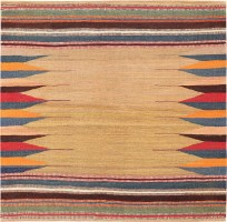 Tribal Persian Gashgai Kilim 47616 Color Detail - By Nazmiyal