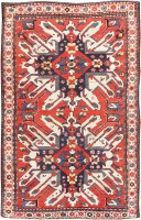 Antique Eagle Kazak Rug 47608 Color Detail - By Nazmiyal