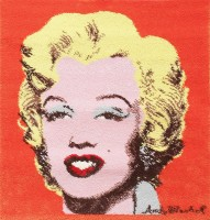 Ege Art Rug of Marilyn Monroe by Andy Warhol 47683 Color Detail - By Nazmiyal