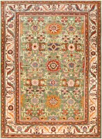 Antique Persian Sultanabad Rug 48084 Color Detail - By Nazmiyal