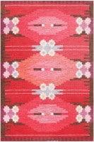 Vintage Swedish Kilim by Ingegerd Silow 48205 Color Detail - By Nazmiyal