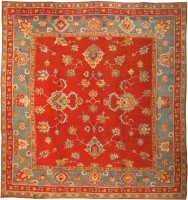 Antique Donegal Irish Rug 3328 Color Detail - By Nazmiyal