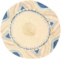 Round Chinese Art Deco Rug 48014 Color Detail - By Nazmiyal